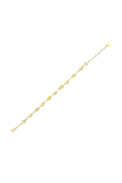 Siena Kadın Altın Sade Zincir Bileklik 14 Ayar