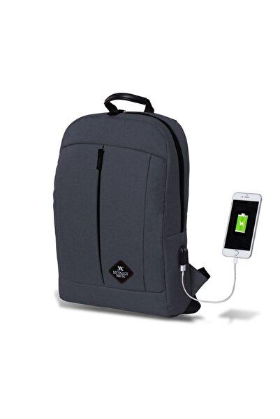 My Valice Smart Bag Galaxy Usb Şarj Girişli Sırt Çantası Füme /