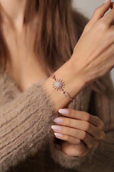Forenza 925 Ayar Gümüş Rose Güneş Bileklik