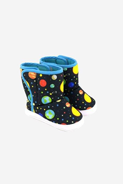 Funny Baby Gezegen Desenlı Bebek Ayakkabı