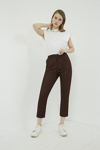 Vis a Vis Kadın Bordo Duble Paça Havuç Pantolon