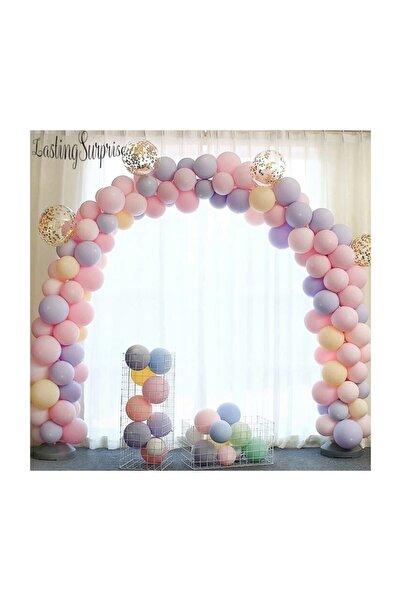 BalonEvi Makaron Balonlu Zincir Balon Seti 5 Mt Zincir 100 Balon Karışık