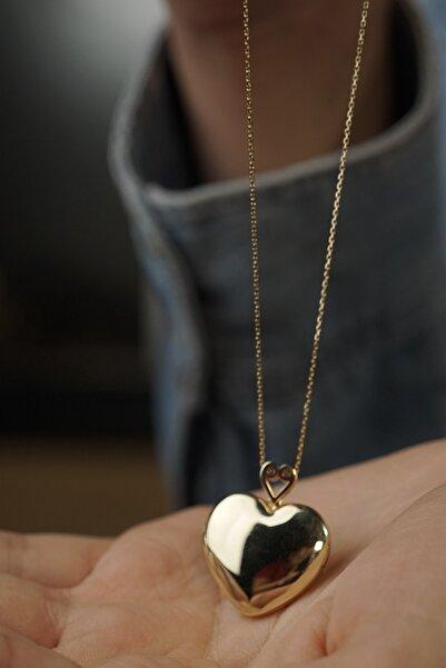 HAMZA YILMAZ MÜCEVHERAT Kadın Kalpli Kapaklı Madalyon Kolye