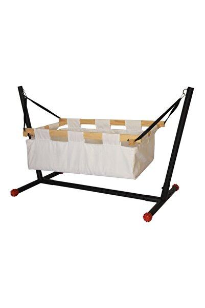 Webburada Beyaz Portatif Tüllü Bebek Beşiği Hamak Salıncak Bebek Yatağı