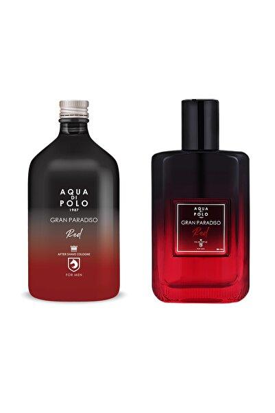 Aqua Di Polo 1987 Red Edp 50 ml Erkek Parfüm Seti 8682367092342