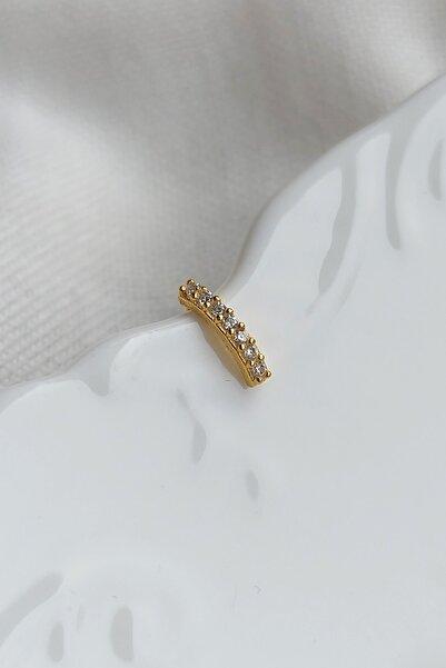Viva Hera Aksesuar Kadın Gold Sıra Taşlı 925 Gümüş Hızma