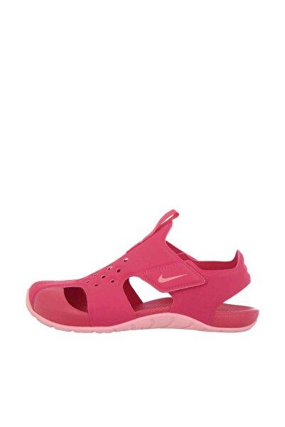 Nike Kids Unisex Çocuk Pembe Turuncu Sunray Protect 2 ps Sandalet