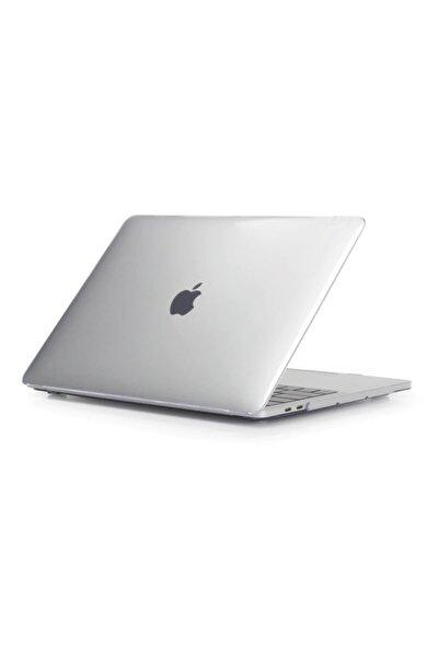 KIZILKAYA Transparan Parlak Apple Macbook Air 2020 Model A2337 M1 13 Inç Touch Id Sert Kapak Koruma Kılıf