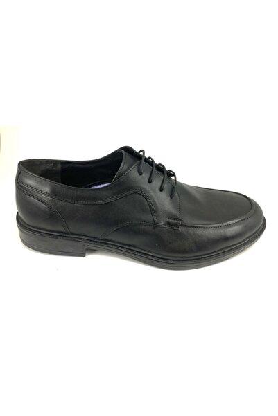 Alpıno Erkek Siyah Bağlı Klasik Deri Ayakkabı