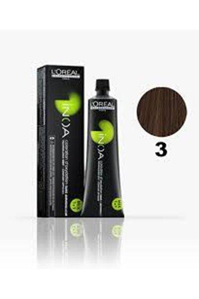 İNOA 3 Numara Koyu Kestane Saç Boyası 60 Ml (oksidansız)