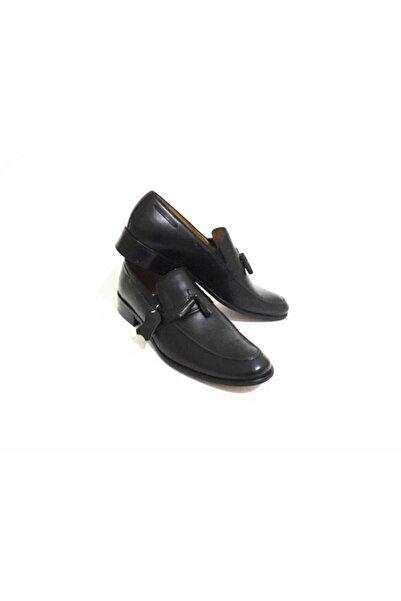 Erdem Siyah Püskül Detaylı Erkek Neolit Klasik Ayakkabı