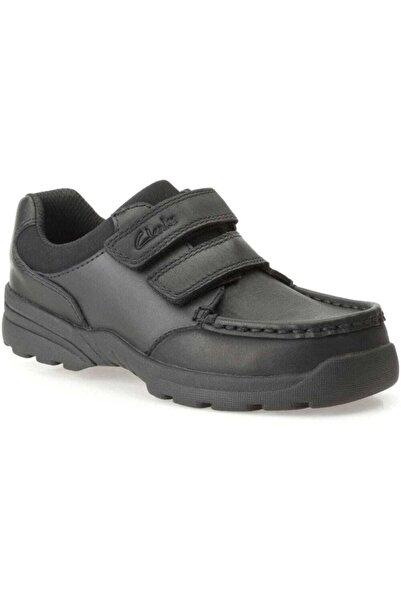 CLARKS Erkek Çocuk Siyah Deri Ayakkabı