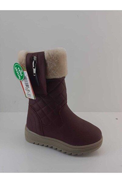 Twingo Bordo Fermuarlı Çizme