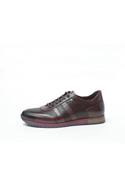 Pierre Cardin Men Erkek Bordo Deri Casual Ayakkabı