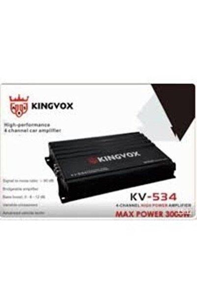 AUDİOMAX Kingvox Kv-534 4 Kanal 30000 Watt Profosyonel Oto Amfi