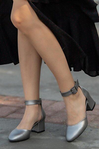 Mio Gusto Helen Kurşun Topuklu Ayakkabı
