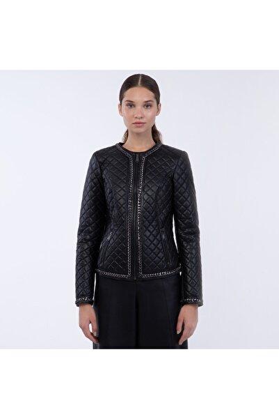 KEMAL TANCA Kadın Siyah Deri Ceket 303 1201