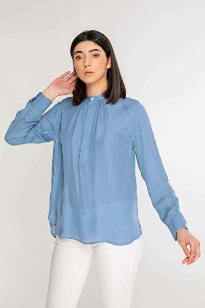 Polo Ralph Lauren Kadın Mavi Ipek Bluz
