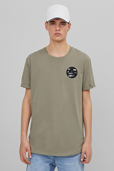 Bershka Baskılı Muscle Fit T-shirt