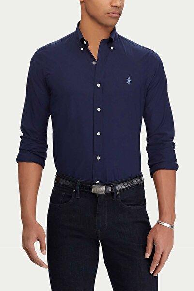 Polo Ralph Lauren Erkek Lacivert Slim Fit %100 Pamuk Stretch Gömlek
