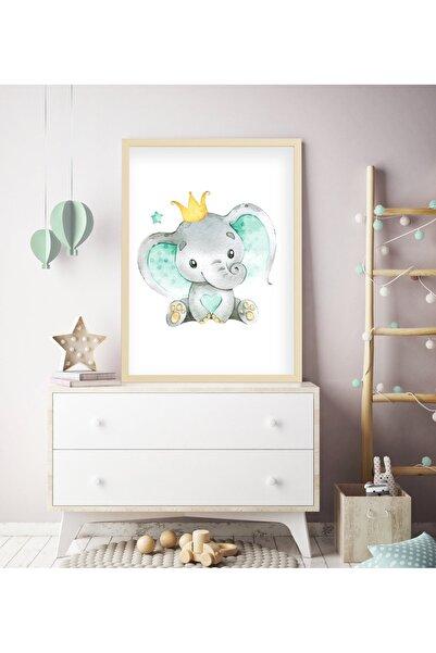 tablosetleri 1 Adet 33 x 45cm Büyük Boy Çerçeveli Bebek Çocuk Odası Tablo