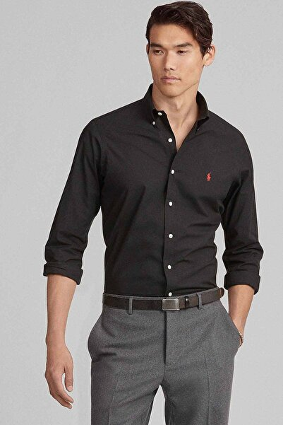Polo Ralph Lauren Erkek Siyah Slim Fit Gömlek