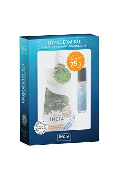 Incia Egzama Karşıtı Kit Yoğun Nemlendiricili Sıvı Sabun Ve Yatıştırıcı Doğal Bakım Yağı