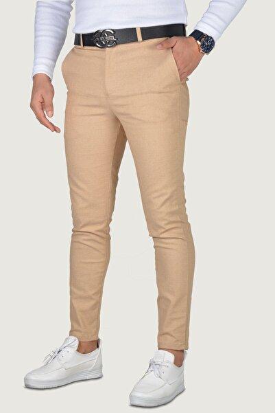 Terapi Men Erkek Bej Keten Pantolon