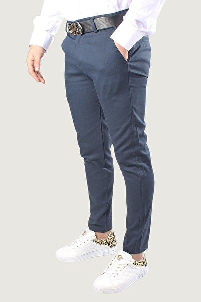 Terapi Men Erkek Mavi Keten Pantolon