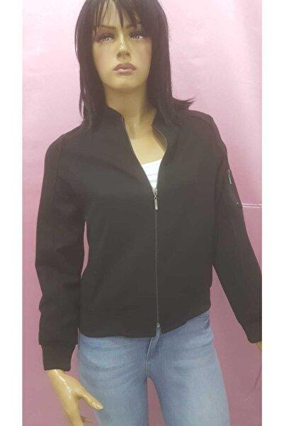 Fashion Friends Kadın Siyah Astarlı Ceket Fashon Friends