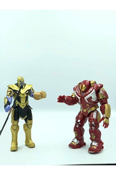 DLN Demir Adam Hulk Buster Kaskı Açılır Ve Thanos Işıklı Kırılmaz Figür Oyuncak