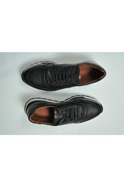 SÜVARİ Hakiki Deri Siyah Casual Ayakkabı