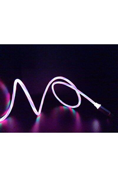 MADEPAZAR Üç Renk Neon Işıklı Ledli Yeni Nesil Iphone Kablo