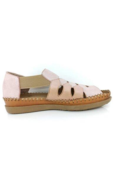 Venüs Kadın Pembe Hakiki Deri Casual Sandaleti 19793508