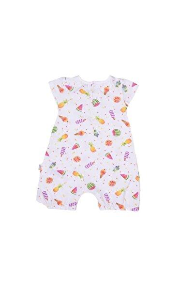 kitikate Kız Bebek Ekru Organik Meyveli Tulum S86065