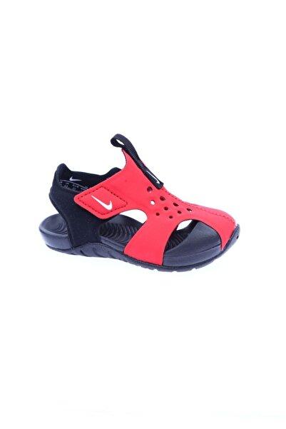 Nike Unisex Bebek Kırmızı Siyah Sunray Protect 2 Sandalet 943827-601
