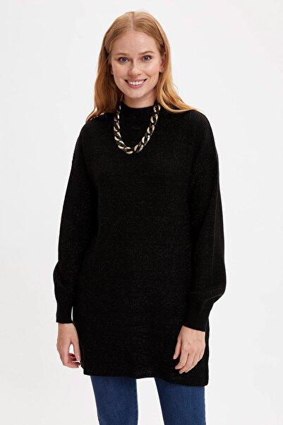 DeFacto Kadın Siyah Gömlek Tunik R1212AZ20WN