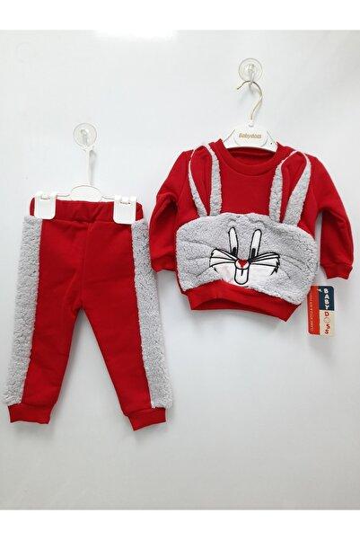 Baby Doss Bebek Kırmızı Tavşanlı Eşofman Takımı