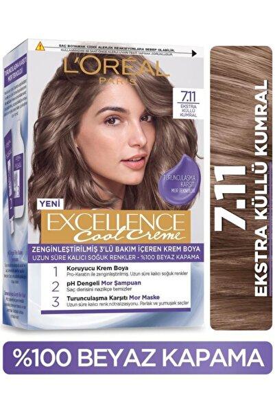 L'Oreal Paris L'oréal Paris Excellence Cool Creme Saç Boyası – 7.11 Ekstra Küllü Kumral