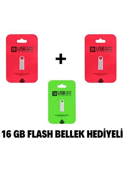 POWERWAY 2 Adet 128 Gb Metal Usb Flash Bellek +16 Gb Metal Flash Bellek Hediyeli