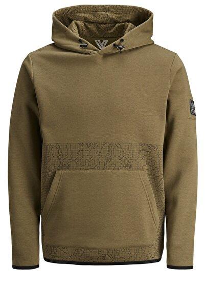 Jack & Jones Erkek Sweatshirt Kamuflaj - 12179648