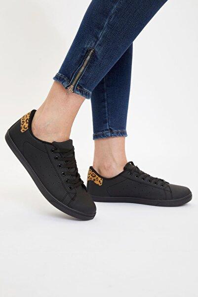 DeFacto Kadın Siyah Bağcıklı Sneaker Ayakkabı S0831AZ.20AU.BK23