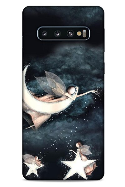Lopard Y.liva-2020 (yıldızlı Peri) Samsung Galaxy S10 Kılıf Silikon Kapak Desenli