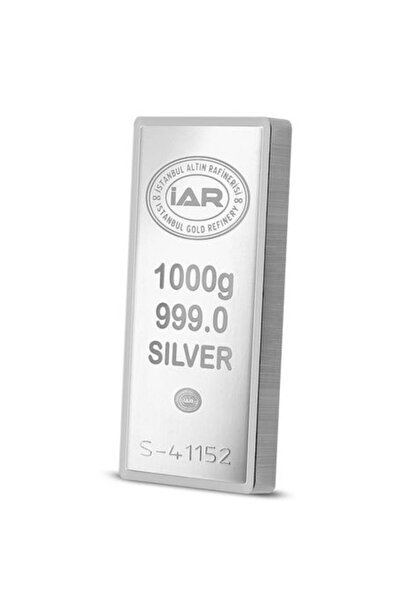 İar Uluslar Arası Geçerli Sertifikalı Faturalı 999.0 Saf Külçe Gümüş