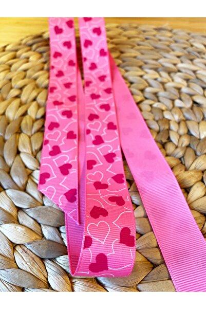 Baby Fehn Pink Heart Grogen Kurdela 2,5cm 1 m