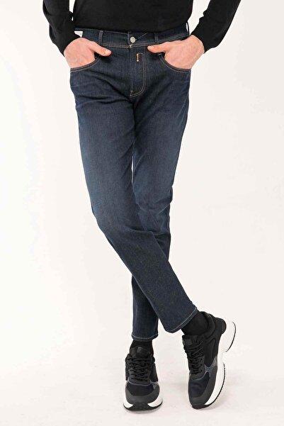 Replay Erkek Lacivert Hyperflex Re-used Slim Fit Anbass Jeans