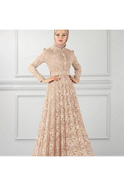 TMR Kadın Gübürlü Dantel Elbise