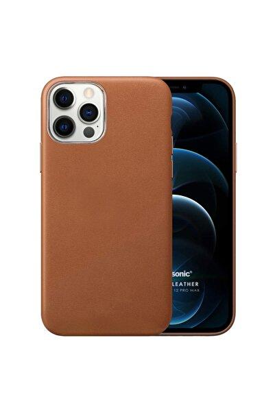 Microsonic Apple Iphone 12 Pro Max Kılıf Luxury Leather Kahverengi