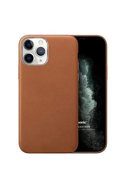 Microsonic Apple Iphone 11 Pro Kılıf Luxury Leather Kahverengi