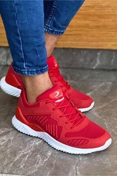 Marco Jamper Erkek Kırmızı Ortopedik Mevsimlik Spor ve Koşu Ayakkabısı